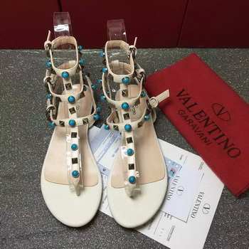 Valentino Leather Sandal VT792 White