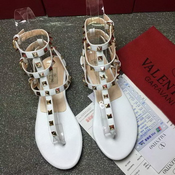 Valentino Leather Sandal VT795 White