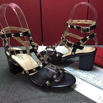 Valentino Leather Sandal VT797 Black