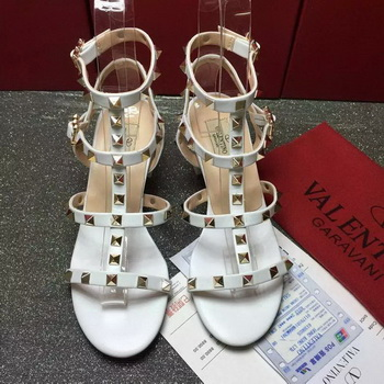 Valentino Leather Sandal VT797 White