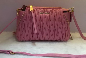 miu miu Matelasse Nappa Leather Shoulder Bag RN9110 Pink