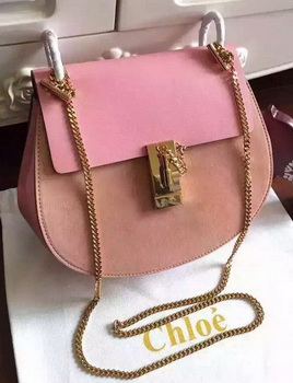 CHLOE Drew Shoulder Bags Original Leather CL5599 Pink&Light Pink