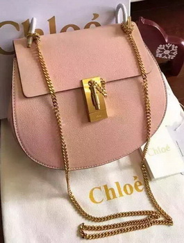 CHLOE Drew Shoulder Bags Original Leather CL5599 Pink