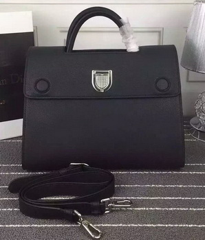 Dior Diorever Tote Bag Calfskin Leather D66556 Black