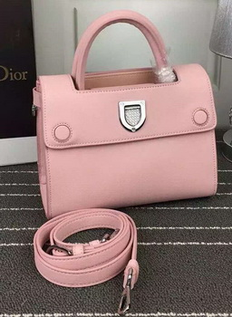 Dior Diorever mini Tote Bag Calfskin Leather D66555 Pink