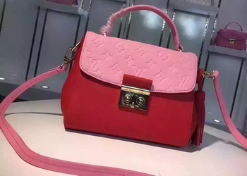 Louis Vuitton Calfskin Leather CROISETTE Bag M94338 Pink&Red
