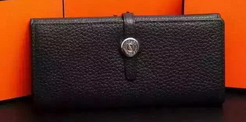 Hermes Dogon Original Leather Wallet H509 Black