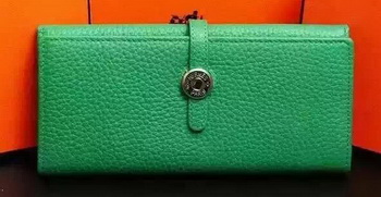 Hermes Dogon Original Leather Wallet H509 Green