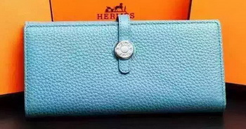 Hermes Dogon Original Leather Wallet H509 SkyBlue