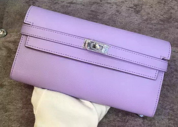 Hermes Kelly Wallet Epsom Leather H009 Lavender