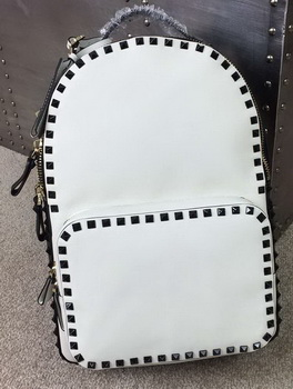Valentino Garavani Rockstud Backpack Original Leather VO19612 White&Black
