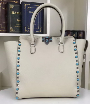 Valentino Garavani Rockstud Double Handle Bag VO1912B Grey