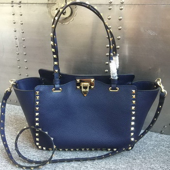 Valentino Garavani Rockstud Tote Bag Original Leather 1917B Blue