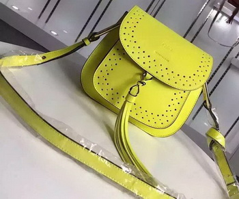 CHLOE Hudson Tassel Shoulder Bag Calfskin Leather 160314 Yellow