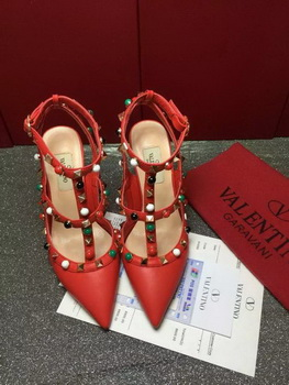 Valentino Calfskin Leather 90mm Pump VT817 Red