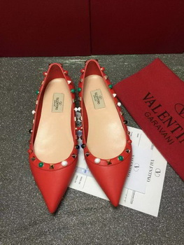 Valentino Leather Ballerina VT815 Red