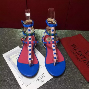 Valentino Leather Sandal VT813 Blue