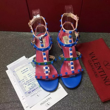 Valentino Leather Sandal VT814 Blue