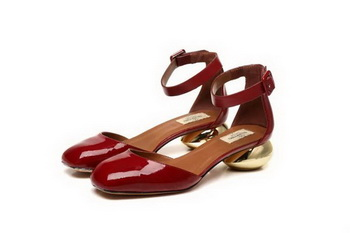 Valentino Patent Leather Pump VT808 Burgundy