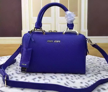miu miu Calfskin Leather Tote Bag BL1033 Blue