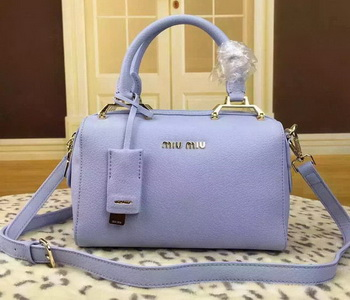 miu miu Calfskin Leather Tote Bag BL1033 Light Blue