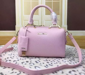 miu miu Calfskin Leather Tote Bag BL1033 Pink