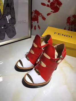 Fendi 100mm Pump Leather FD136 Red