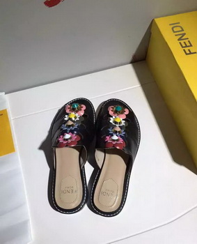 Fendi Slipper Leatehr FD130 Black
