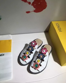 Fendi Slipper Leatehr FD130 White