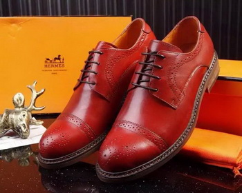 Hermes Men Casual Shoes HO715 Red