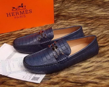 Hermes Men Casual Shoes HO717 Blue