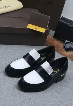 Louis Vuitton Leather Casual Shoes LV673 Black&White
