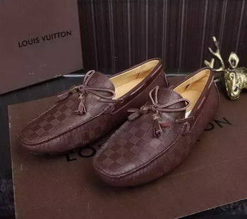 Louis Vuitton Leather Casual Shoes LV680 Brown