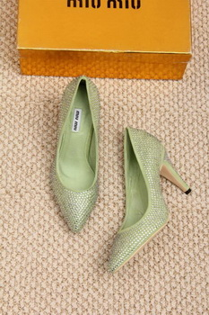 miu miu 70mm Pump MM432 Green
