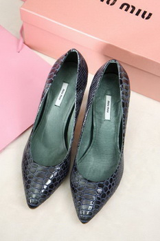 miu miu 70mm Pump MM435 Green