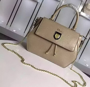 Dior Diorever Tote Bag Calfskin Leather D8213 Apricot
