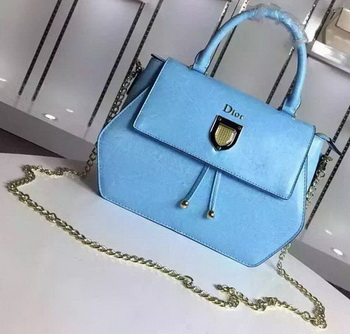 Dior Diorever Tote Bag Calfskin Leather D8213 SkyBlue