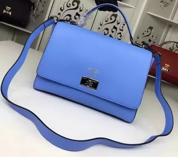 Fendi Shoulder Bag Calfskin Leather F003 Blue