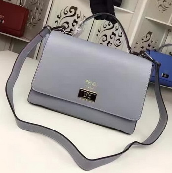 Fendi Shoulder Bag Calfskin Leather F003 SkyBlue