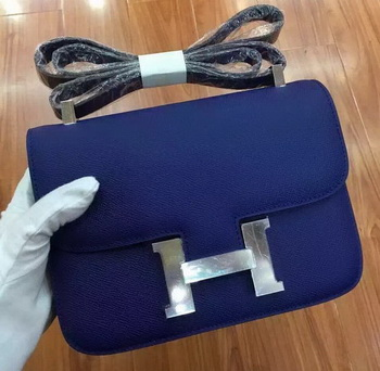 Hermes Constance Bag Calfskin Leather H9999 Blue