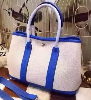 Hermes Garden Party 36cm Tote Bags Canvas HGP1927 Blue