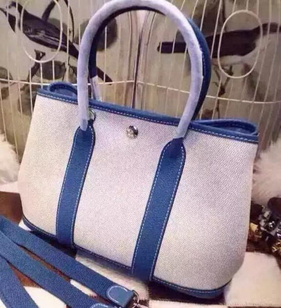 Hermes Garden Party 36cm Tote Bags Canvas HGP1927 SkyBlue