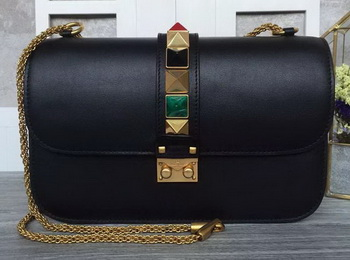 Valentino Garavani Shoulder Bag Original Leather VG1914 Black