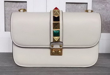Valentino Garavani Shoulder Bag Original Leather VG1914 OffWhite