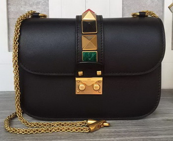 Valentino Garavani Shoulder Bags Calfskin Leather VO1915T Black