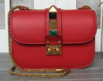 Valentino Garavani Shoulder Bags Calfskin Leather VO1915T Red