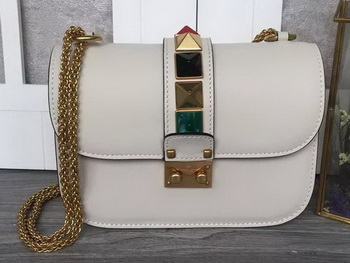 Valentino Garavani Shoulder Bags Calfskin Leather VO1915T White