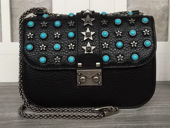 Valentino Garavani Starstudded Shoulder Bag VT1915 Black