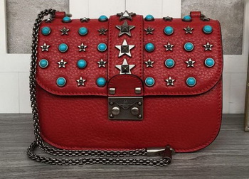 Valentino Garavani Starstudded Shoulder Bag VT1915 Red