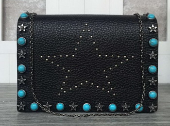 Valentino Garavani Starstudded Shoulder Bag VT19614 Black
